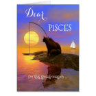 Cute Cats Pisces Birthday Congratulations Card