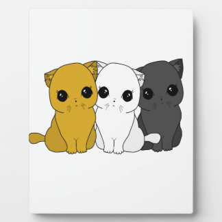 Cute cats plaque