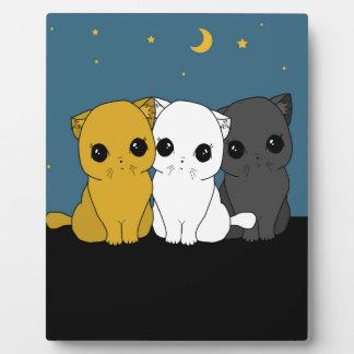 Cute cats plaque