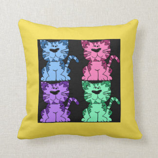 Cute Cats Quartet Accent Pillow