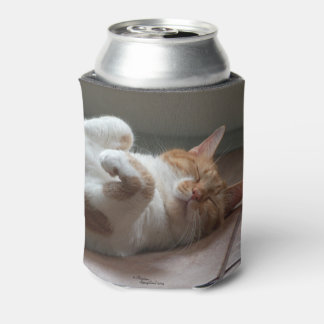Cute Cats sleeping Can Cooler