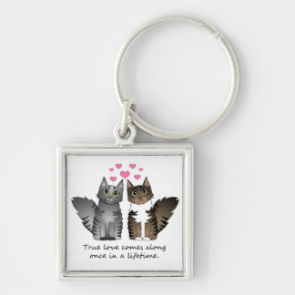 Cute Cats - True Love Keychain