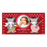 Cute Cats Valentine's Day Photo Card Template