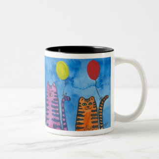 Cute Cats with Balloons cup