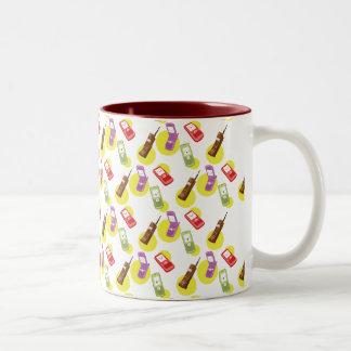 Cute Cellphone Two-Tone Coffee Mug