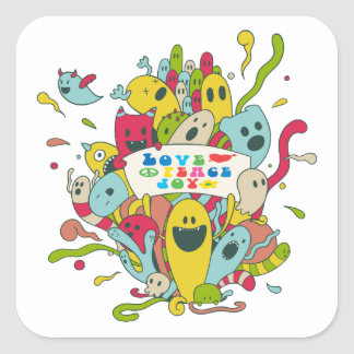 Cute characters with positive message / stickers