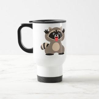 Cute Cheeky Cartoon Raccoon Commuter Mug