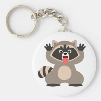 Cute Cheeky Cartoon Raccoon Keychain
