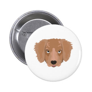 Cute cheeky Puppy 2 Inch Round Button