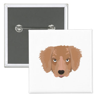 Cute cheeky Puppy 2 Inch Square Button
