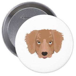 Cute cheeky Puppy 4 Inch Round Button
