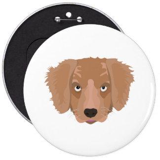 Cute cheeky Puppy 6 Inch Round Button