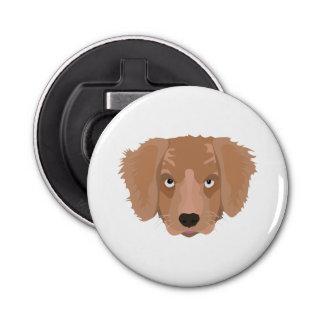 Cute cheeky Puppy Button Bottle Opener
