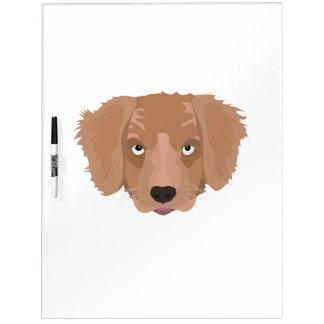 Cute cheeky Puppy Dry-Erase Board