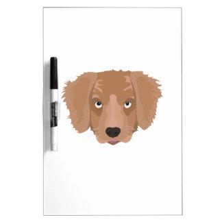 Cute cheeky Puppy Dry Erase White Board