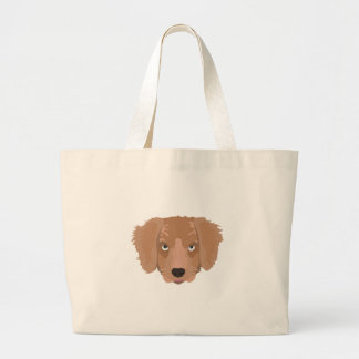 Cute cheeky Puppy Large Tote Bag