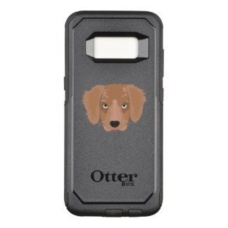 Cute cheeky Puppy OtterBox Commuter Samsung Galaxy S8 Case