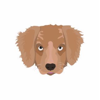 Cute cheeky Puppy Photo Sculpture Button