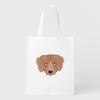 Cute cheeky Puppy Reusable Grocery Bag