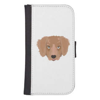Cute cheeky Puppy Samsung S4 Wallet Case