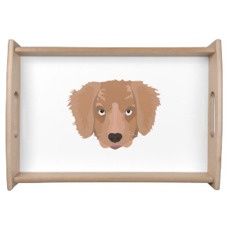 Cute cheeky Puppy Serving Tray