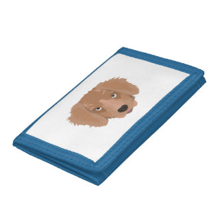 Cute cheeky Puppy Tri-fold Wallets