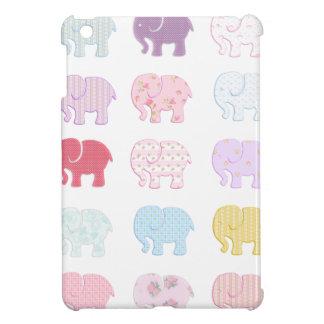Cute Cheerful colorful elephants iPad Mini Case