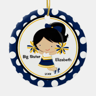 Cute Cheerleader Big Sister Christmas Ornament