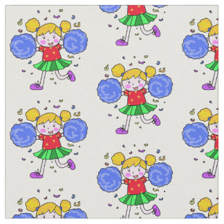 cute cheerleader girl fabric