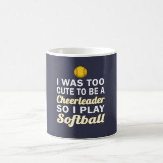 Cute Cheerleader Softball Coffee Mug