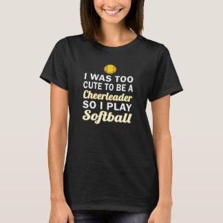 Cute Cheerleader Softball T-Shirt