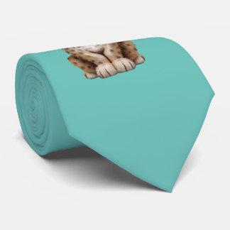 Cute Cheetah Cub Dj Wearing Headphones Tie