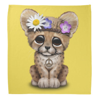 Cute Cheetah Cub Hippie Bandana