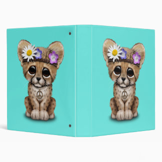 Cute Cheetah Cub Hippie Binder