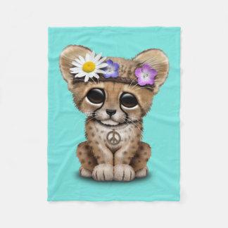 Cute Cheetah Cub Hippie Fleece Blanket
