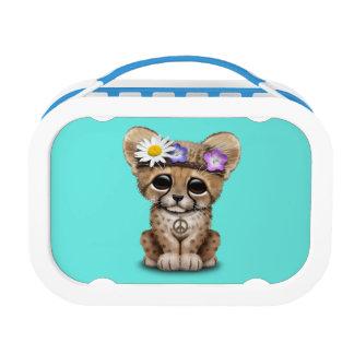 Cute Cheetah Cub Hippie Lunch Box