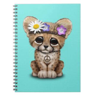 Cute Cheetah Cub Hippie Notebook