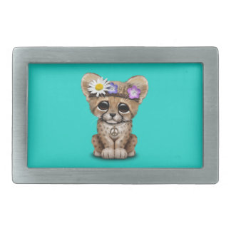 Cute Cheetah Cub Hippie Rectangular Belt Buckle