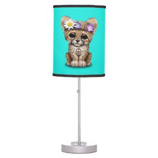 Cute Cheetah Cub Hippie Table Lamp