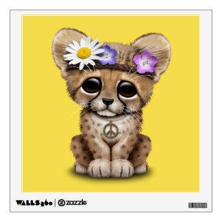 Cute Cheetah Cub Hippie Wall Decal