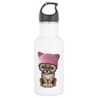 Cute Cheetah Cub Wearing Pussy Hat