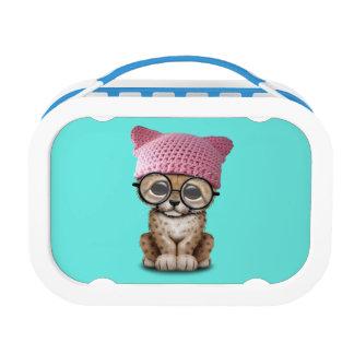 Cute Cheetah Cub Wearing Pussy Hat Lunch Box