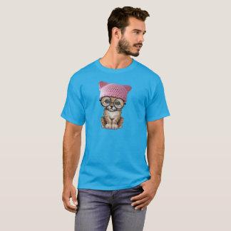 Cute Cheetah Cub Wearing Pussy Hat T-Shirt