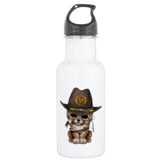 Cute Cheetah Cub Zombie Hunter 532 Ml Water Bottle