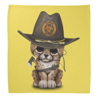 Cute Cheetah Cub Zombie Hunter Bandana