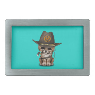 Cute Cheetah Cub Zombie Hunter Belt Buckles
