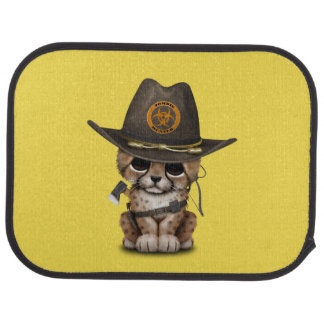 Cute Cheetah Cub Zombie Hunter Car Mat