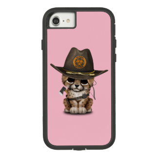 Cute Cheetah Cub Zombie Hunter Case-Mate Tough Extreme iPhone 8/7 Case
