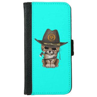Cute Cheetah Cub Zombie Hunter iPhone 6 Wallet Case