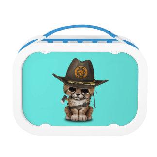 Cute Cheetah Cub Zombie Hunter Lunch Box
